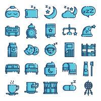 Slapende pictogrammen pack vector