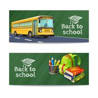 Terug naar school Banners Set vector