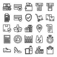 Retail pictogrammen pack vector