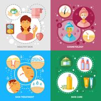 Huidbehandeling Icons Set vector