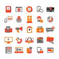 Ondersteuningscentrum Icons Set vector