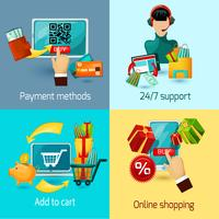 E-commerce vlakke set vector