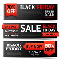 Black Friday-bannerset vector