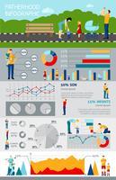 Vaderschap Infographic met Happy Family foto