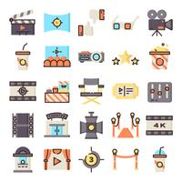 Cinema-iconen pack vector