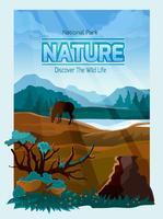 Nationale parkaard achtergrondbanner vector