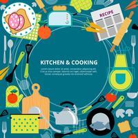 Keuken thuis koken concept poster vector