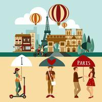 Parijs toeristische set
