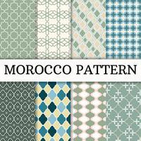 Marokko patroon achtergrond instellen vector
