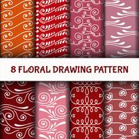 8 Stel abstracte lijntekeningenpatroon in