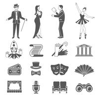 Theater Icons Set vector