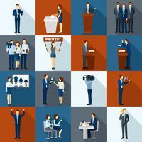 Politiek Icons Set