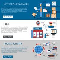 Postbanners instellen vector