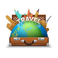 Toeristische Koffer Illustratie vector