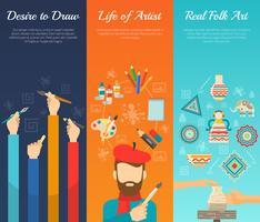 Banner-set voor artiesten vector