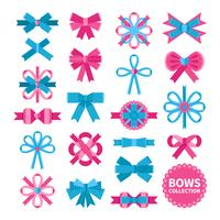Flat Bows-collectie vector