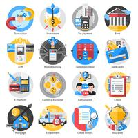 Bankwezen Icons Set vector