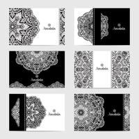 Mandala-kaartenset vector