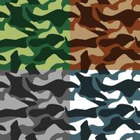Camouflage pictogrammen instellen vector