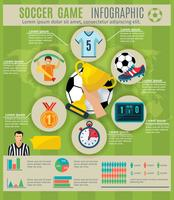 Voetbal Infographic Set vector