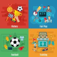 Voetbal vlakke set vector