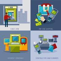 ATM-betalingsset vector