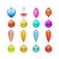 Kerst speelgoed pictogrammen instellen vector