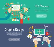 Creatieve procesbanners vector