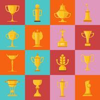 awards pictogrammen instellen vector