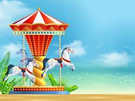 Realistische carrousel achtergrond