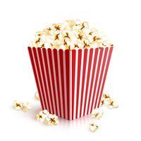 Realistische popcornemmer vector