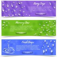 waterdruppels banner set vector