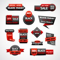 Black Friday-kortingen ingesteld vector