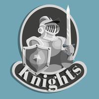 ridder metalen embleem vector