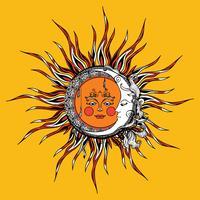 Zon en maan vector