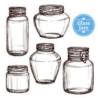 Glazen potten Set