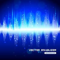 Equalizer blauw op donkere achtergrond poster vector
