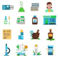 Apotheek Icons Set vector