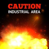 Explosie Vuur Achtergrond vector