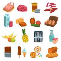 Supermarkt voedsel set vector