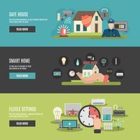 Smart home 3 platte interactieve banners vector