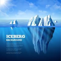Iceberg achtergrond illustratie vector