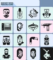 Bodyart Tatoo Piercing pictogrammen