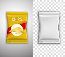 chips verpakking ontwerp vector