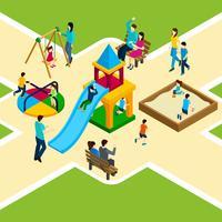 Isometrische Speeltuin voor kinderen