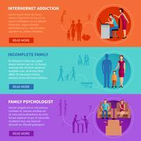 Familieproblemen Banners vector