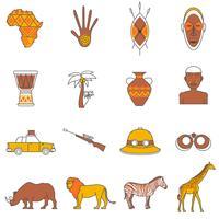 Safari-pictogrammen instellen vector
