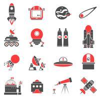 ruimte pictogrammen instellen vector