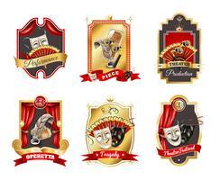 Theater emblemen instellen