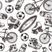 Actieve recreatie naadloze patroon
